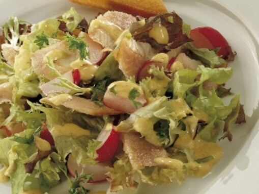 Palingsalade met citroendressing