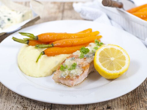 Zalmfilet met gorgonzola